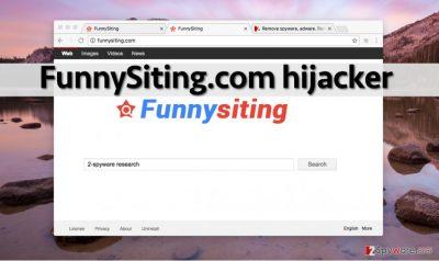 FunnySiting.com hijack