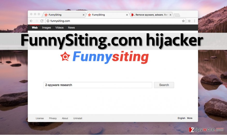 FunnySiting.com takes place of homepage address