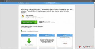 The screenshot of FunSafeTab