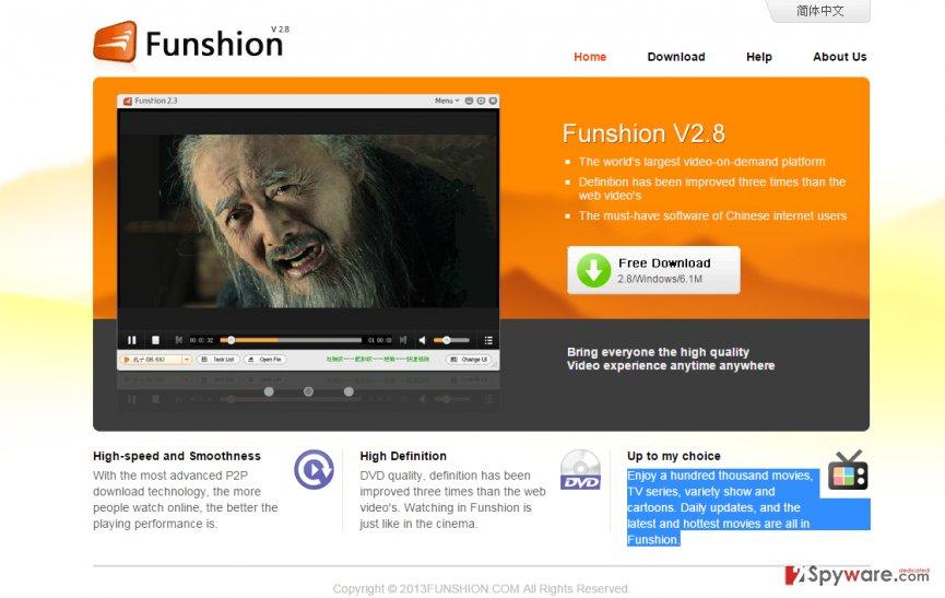 Funshion virus snapshot