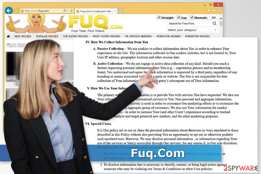 Security researcher is showing the image of Fuq.com