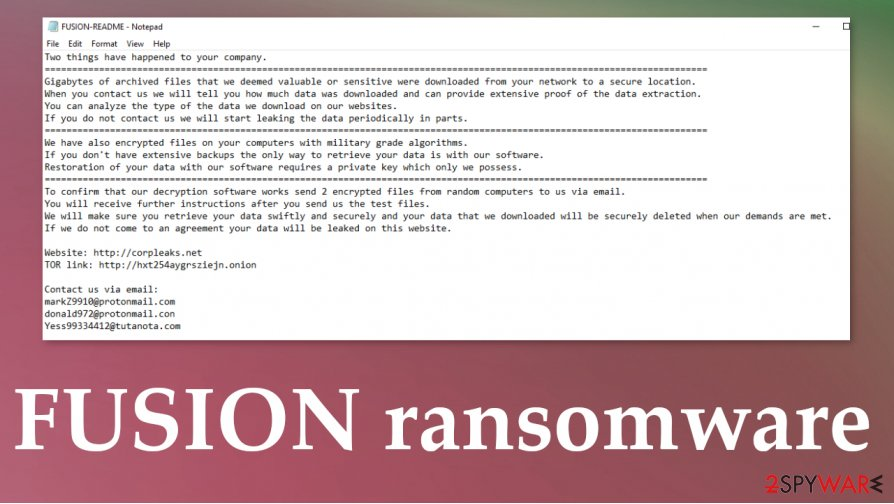 FUSION ransomware