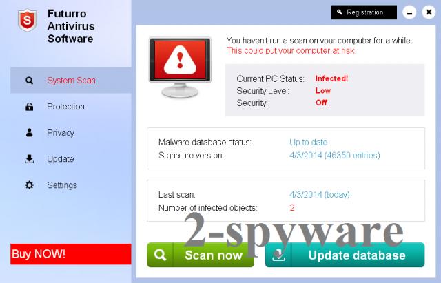 Futurro Antivirus Software snapshot