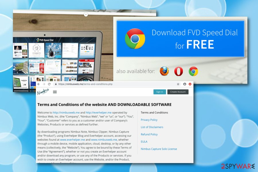 FVD Speed Dial  Operating principle: browser hijacking