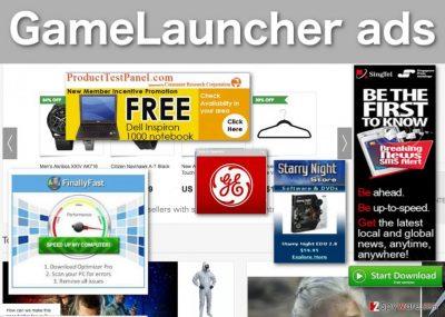 Image of GameLauncher ads