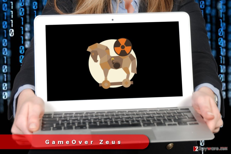 The picture of GameOver Zeus Trojan