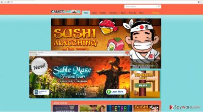 The image showing GamesLagoon ads