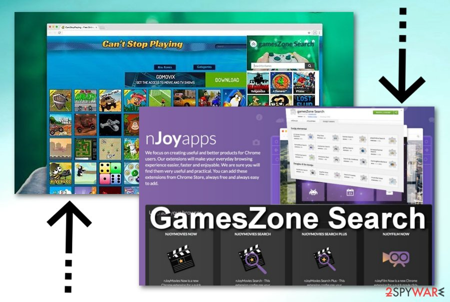 GamesZone Search browser hijacker