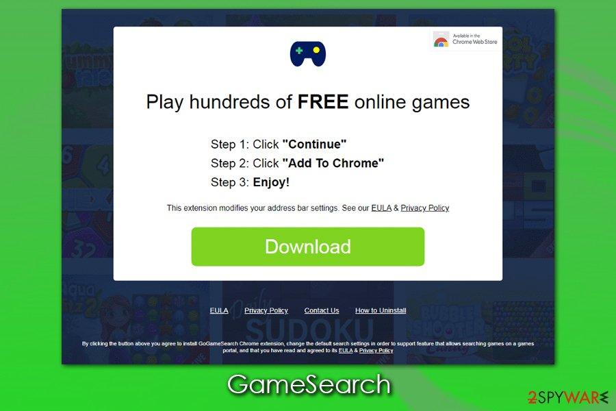 GameSearch ads