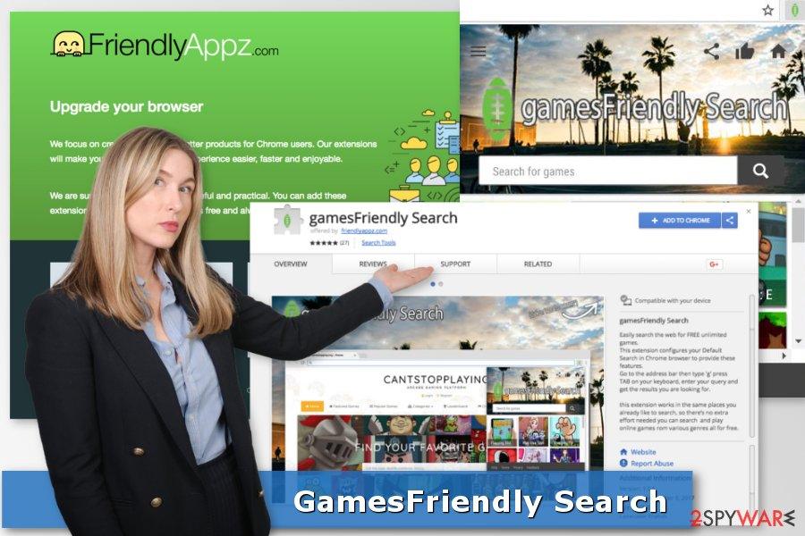 Image of gamesFriendly Search browser hijacker