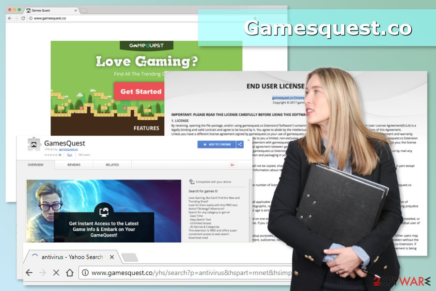 Illustration of Gamesquest.co virus