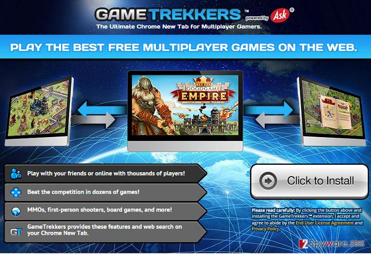 GameTrekkers page