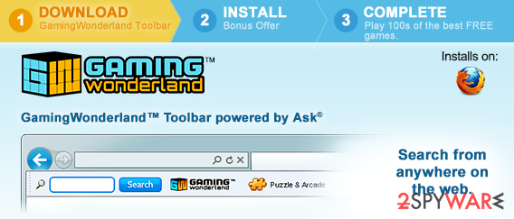 Gaming Wonderland Toolbar snapshot