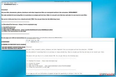 GandCrab 5.0.2 ransomware virus