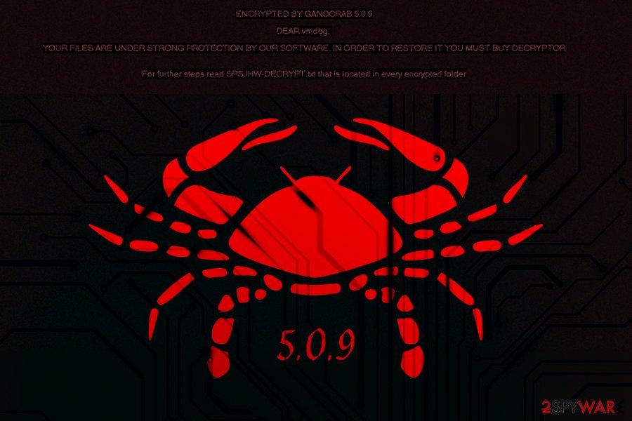 GandCrab 5.0.9 ransomware