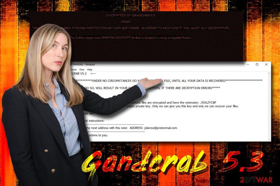 Gandcrab 5.3 ransomware virus