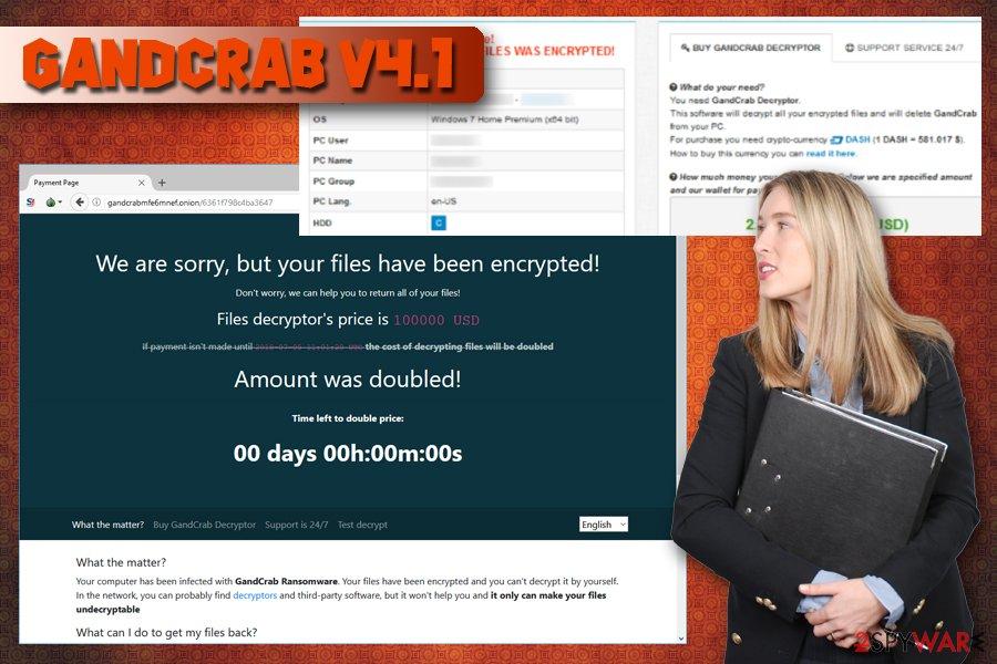 GandCrab v4.1 crypto-virus
