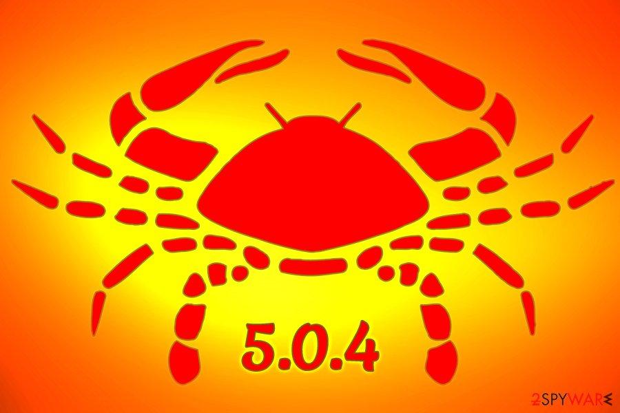 GandCrab 5.0.4 ransomware