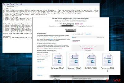 GandCrab2 virus ransom note