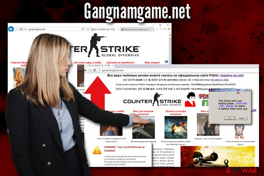 Gangnamgame.net pop-ups
