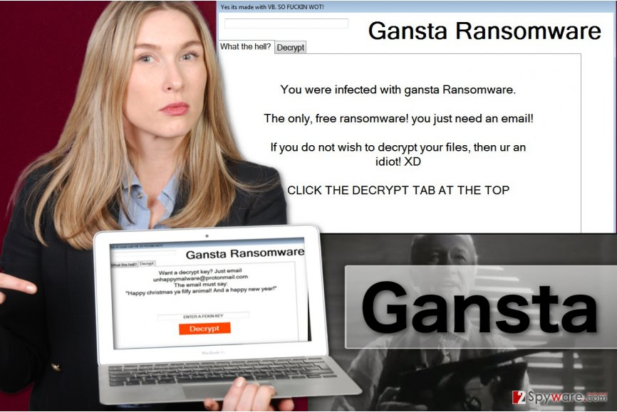 Image of Gansta ransomware virus