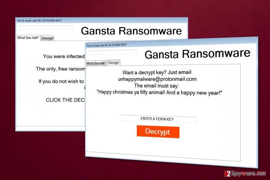 Gansta ransomware virus