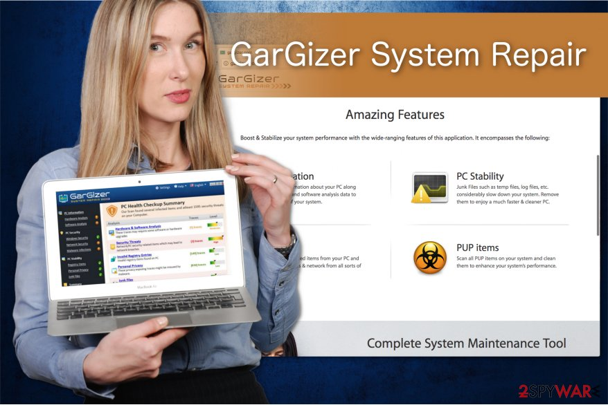The illustration of GarGizer System Repair program