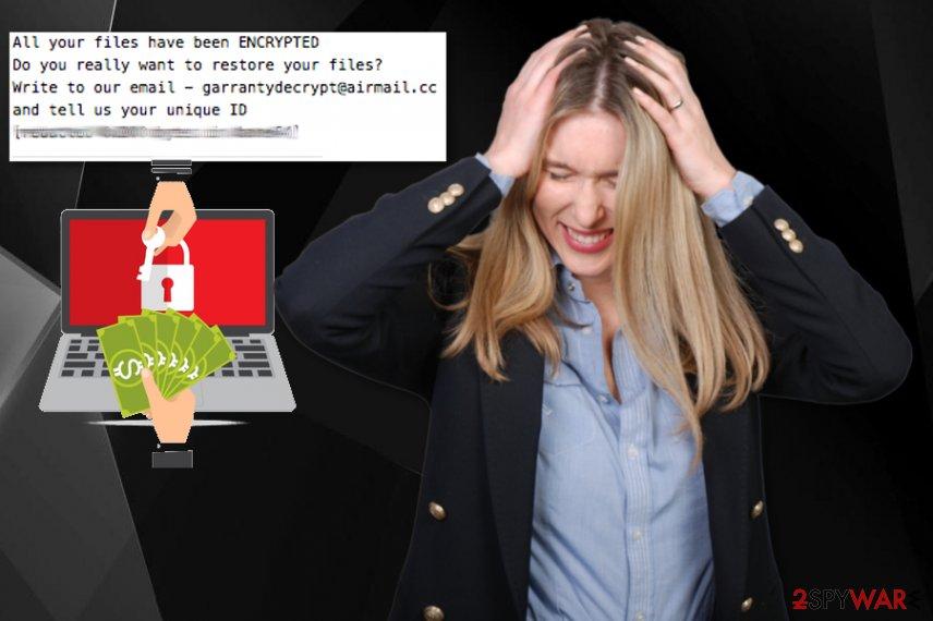 GarrantyDecrypt ransomware virus