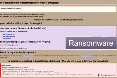 Screenshot of Garryweber@protonmail.ch ransomware virus