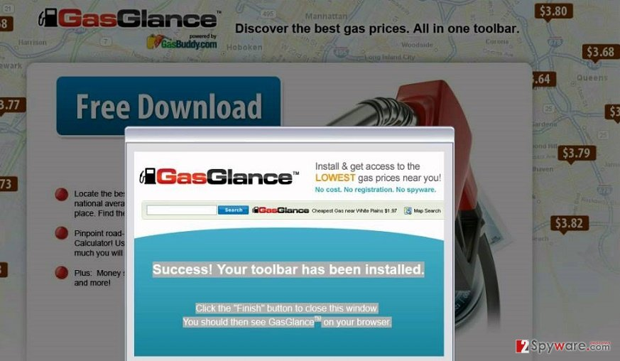 GasGlance Toolbar redirect