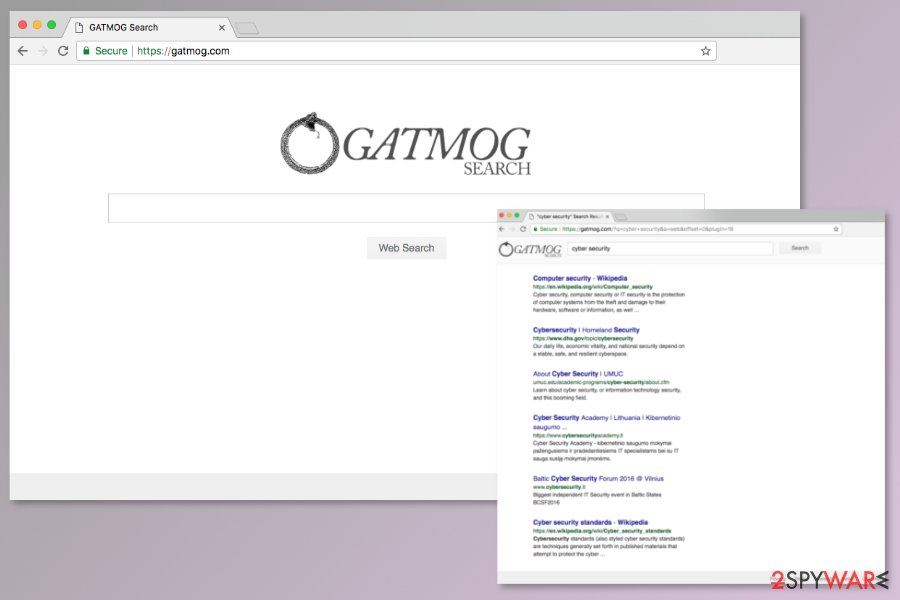 Image of Gatmog.com search engine