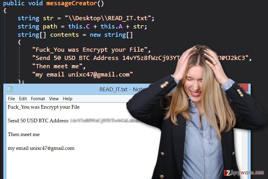 The image of GC47 ransomware virus