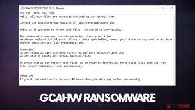 Gcahvv ransomware