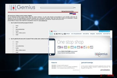 Gemius ads appear as full page graphics