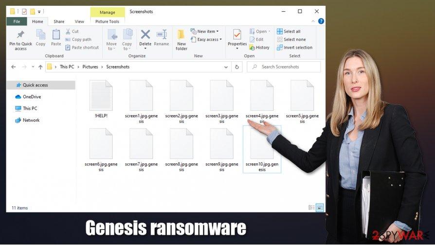 Genesis ransomware virus