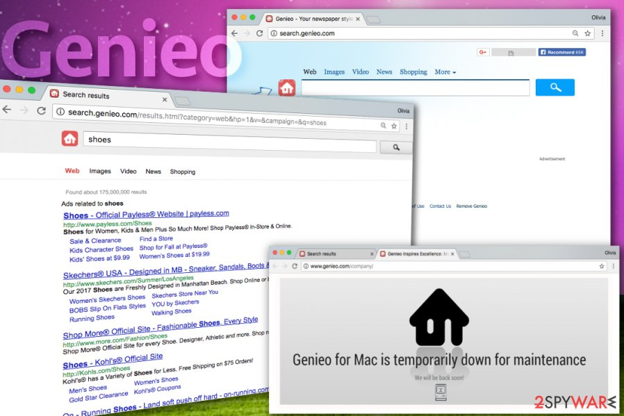 Genieo Search browser hijacker