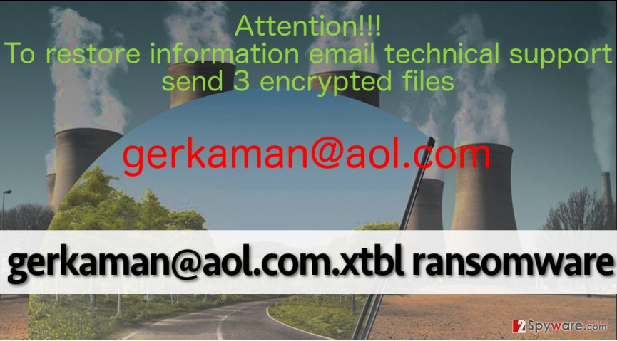 gerkaman@aol.com.xtbl ransomware replaces desktop picture