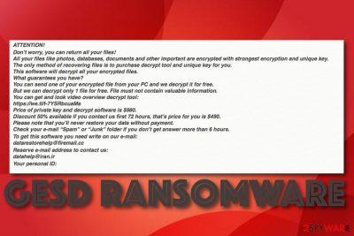 Gesd ransomware virus