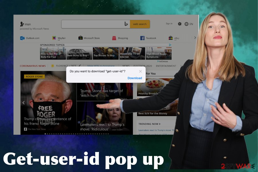 Get-user-id pop-ups