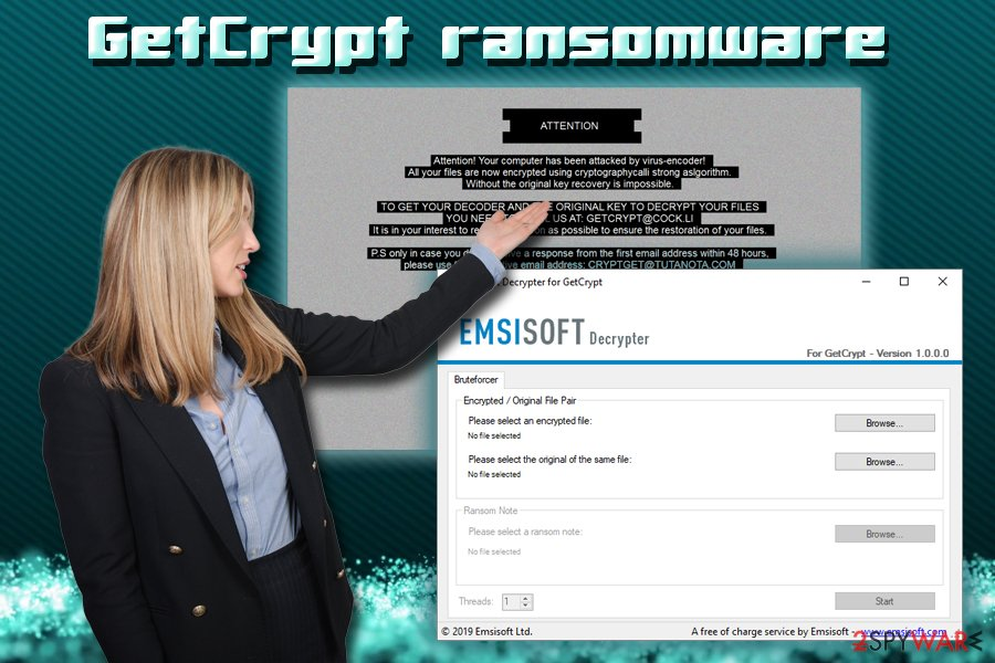 Remove GetCrypt ransomware (Virus Removal Guide) - Decryption