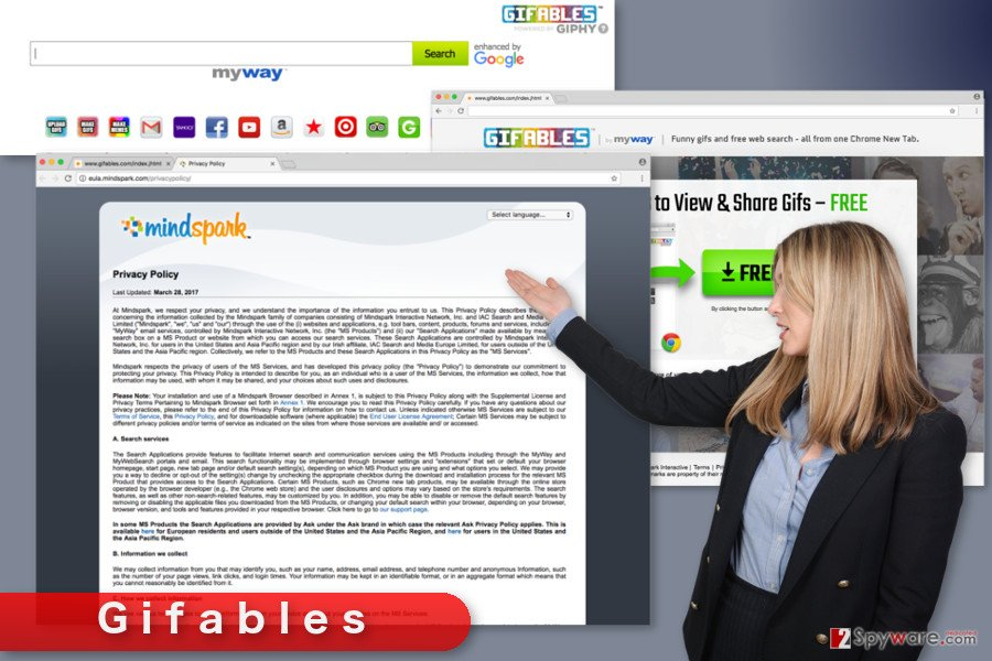 The illustration of Gifables Toolbar