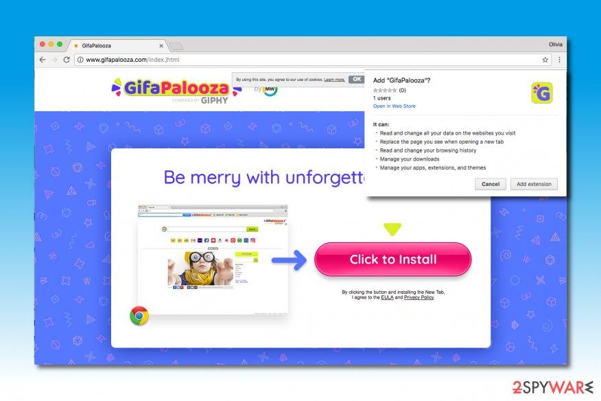 Image of GifaPalooza Toolbar installation