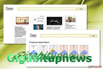 The sample of Gigabitupnews.com site