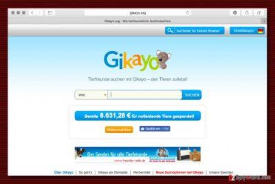Gikayo.org redirect virus