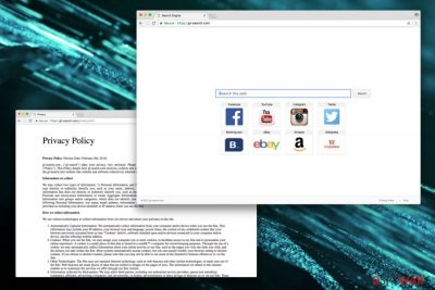 The main page of gl-search.com virus