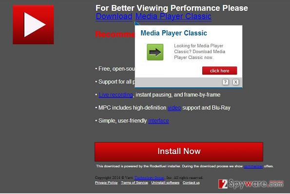 PcCleanser.net pop-up ads snapshot