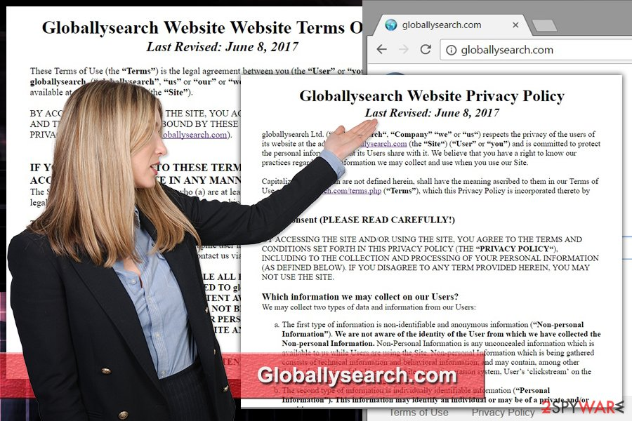 The image of Globallysearch.com virus