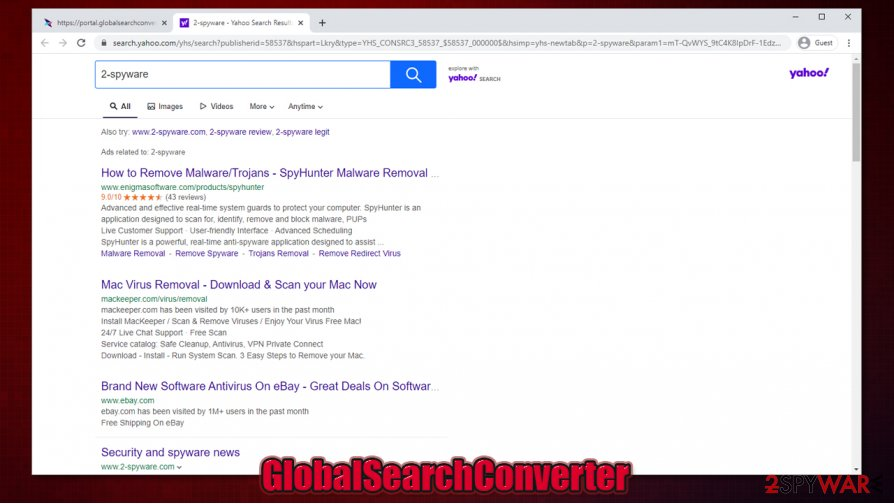 GlobalSearchConverter redirect