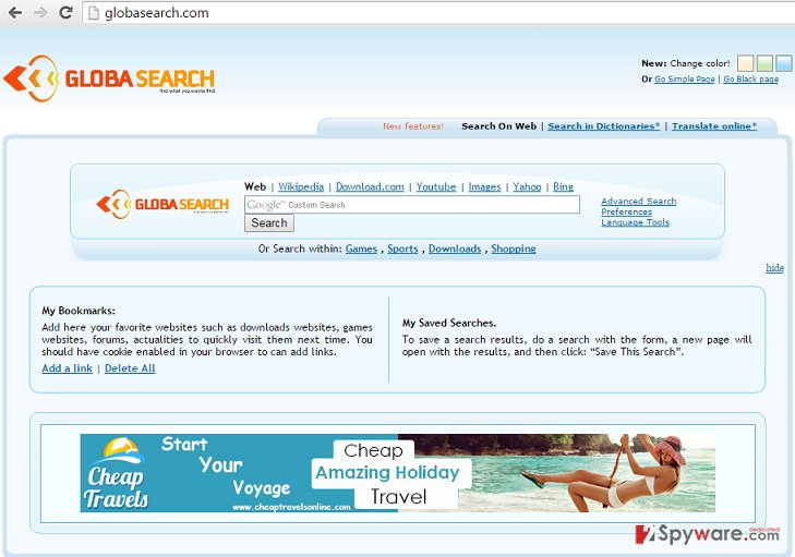 The picture of GlobaSearch browser hijacker