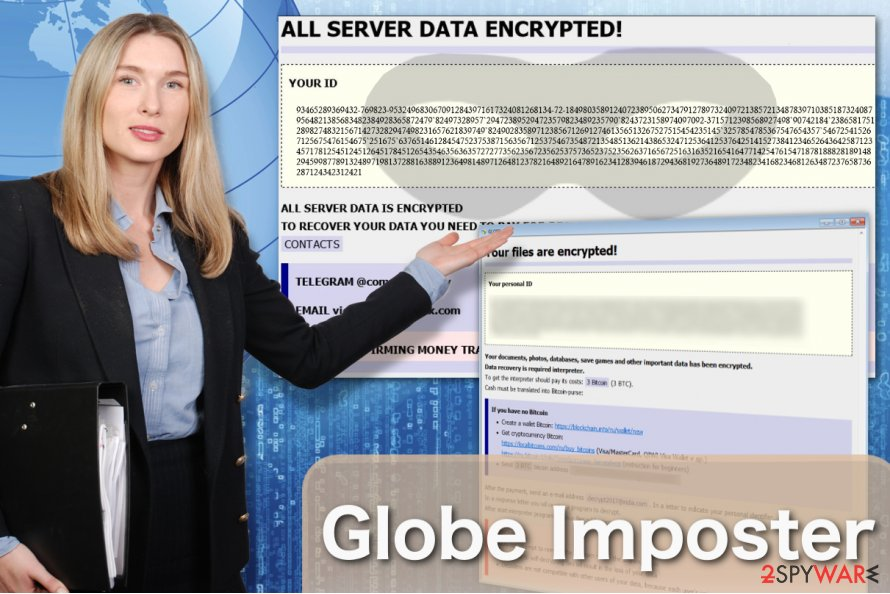 The illustration of Globe Imposter virus